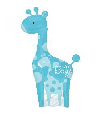 Foil Balloons - Baby Shower - Blue Giraffe
