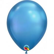 Latex Balloons - Chrome - Blue
