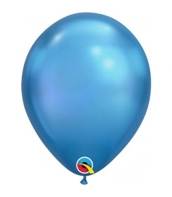 Latex Balloons - Chrome - Blue