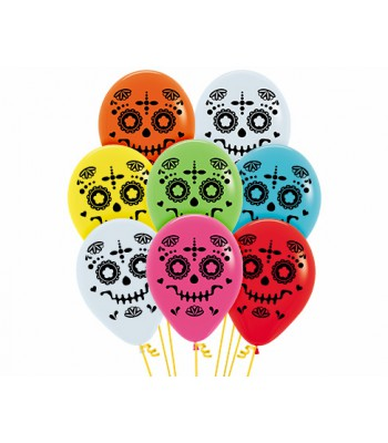 Latex Balloons - Printed - Halloween - Day of the Dead / Catrina
