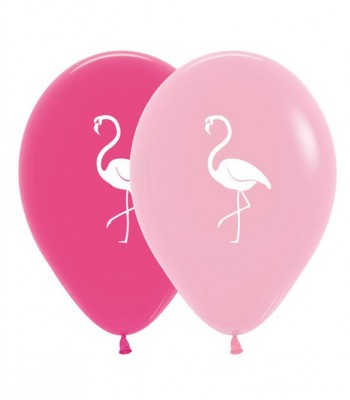 Latex Balloons - Printed - Flamingo