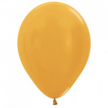 Latex Balloons - Chrome - Gold