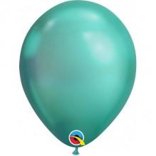 Latex Balloons - Chrome - Green