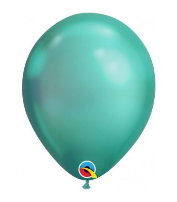 Latex Balloons - Chrome - Green