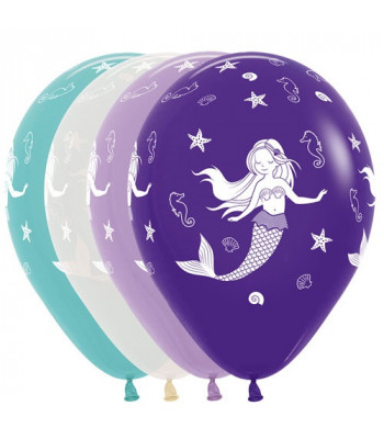 Latex Balloons - Printed - Mermaid