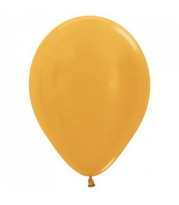 Latex Balloons - Metallic - Gold