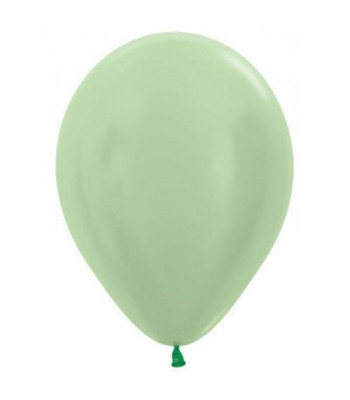 Latex Balloons - Metallic - Mint Green