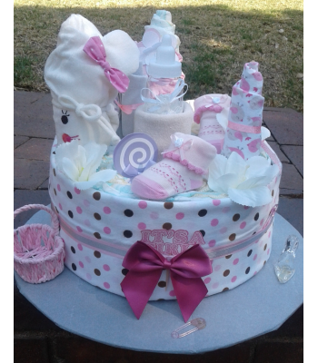It's a Girl Nappy Cake
