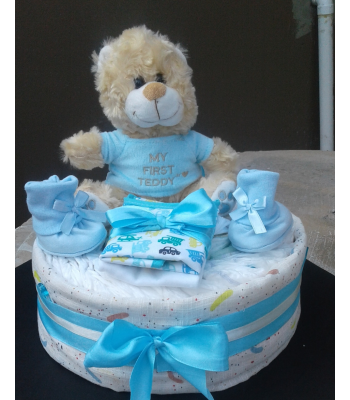 My First Teddy Nappy Cake