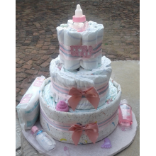Welcome Princess Nappy Cake