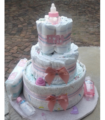 Welcome Princess Nappy Cake