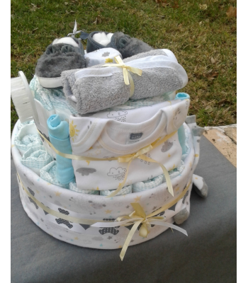Gender Neutral Nappy Cake