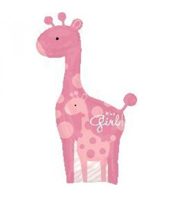 Foil Balloon - Baby Shower - Pink Giraffe
