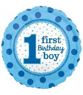 Foil Balloons - Birthday Ages - 1st Birthday Boy