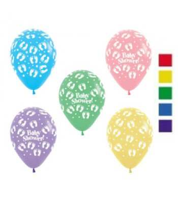 Latex Balloons - Printed - Baby Shower Prints Assorted