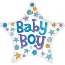 Foil Balloons - Baby Shower - Baby Boy Star