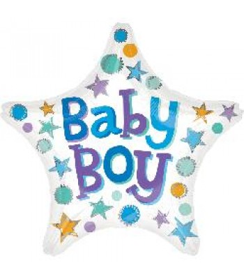 Foil Balloons - Baby Shower - Baby Boy Star