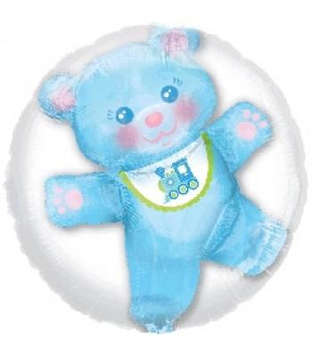 Jumbo Foil Balloons - Baby Boy Teddy Bear