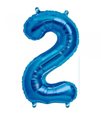 Foil Balloons - Numbers - 2 - Blue
