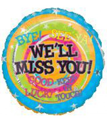 Foil Balloons - Special Message - Bon Voyage Miss You