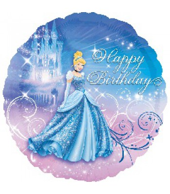 Foil Balloons - Children Birthday - Cinderella Happy Birthday