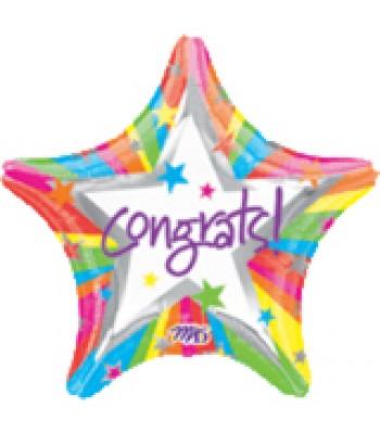 Foil Balloons - Special Message - Congrats Rainbow Star