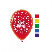 Latex Balloons - Printed - Get Well Assorted