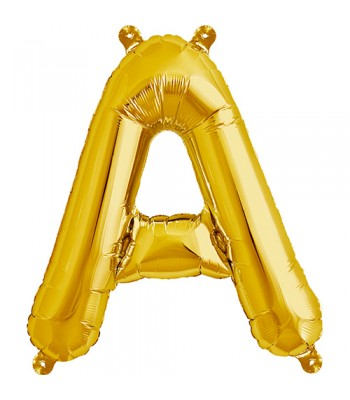 Foil Balloons - Letters - A - Gold