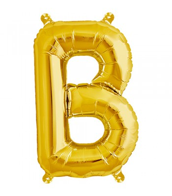 Foil Balloons - Letters - B - Gold