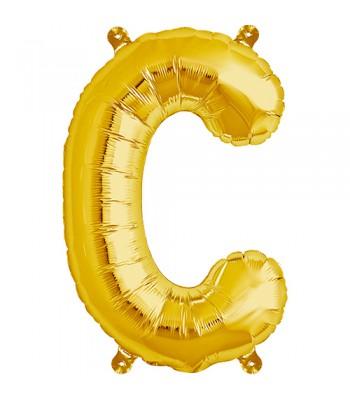 Foil Balloons - Letters - C - Gold