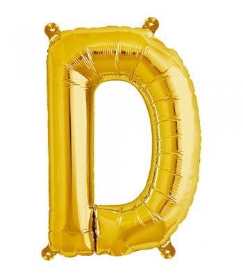 Foil Balloons - Letters - D - Gold