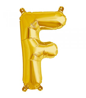 Foil Balloons - Letters - F - Gold