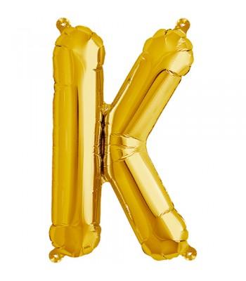 Foil Balloons - Letters - K - Gold