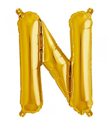 Foil Balloons - Letters - N - Gold