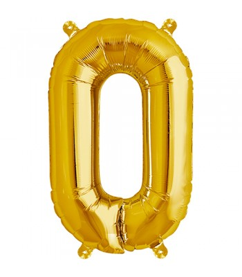 Foil Balloons - Letters - O - Gold