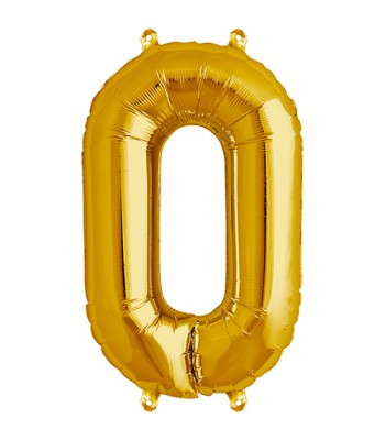 Foil Balloons - Numbers - 0 - Gold