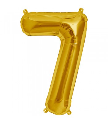 Foil Balloons - Numbers - 7 - Gold