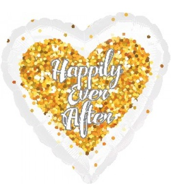 Foil Balloons - Special Message - Happily Ever After Heart