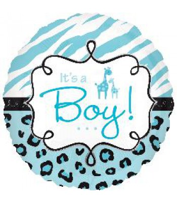 Foil Balloons - Baby Shower - Its a Boy Giraffe
