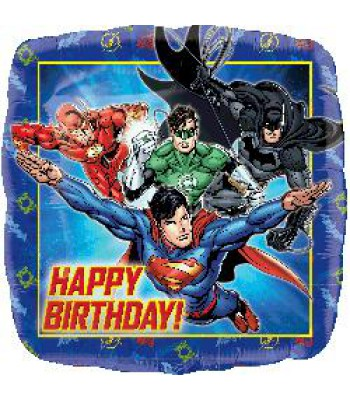 Foil Balloons - Children Birthday - Justice League Happy Bday