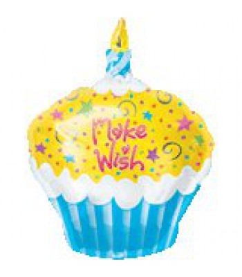 Foil Balloons - Birthday - Make A Wish Cupcake