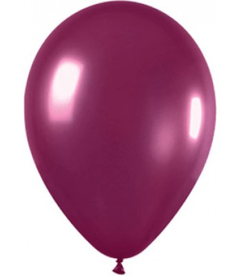 Latex Balloons - Metallic - Burgundy