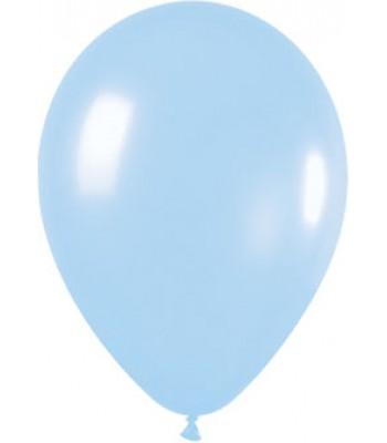 Latex Balloons - Metallic - Light Blue