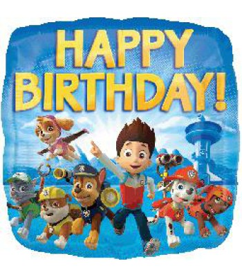 Foil Balloons - Children Birthday - Paw Patrol Happy Birthday