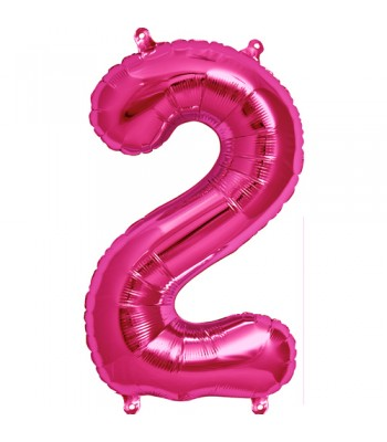 Foil Balloons - Numbers - 2 - Pink