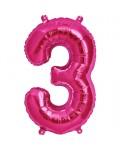 Pink Number Foil Balloons