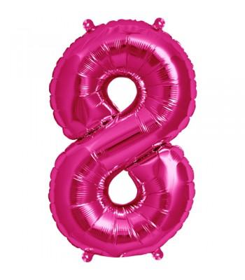 Foil Balloons - Numbers - 8 - Pink