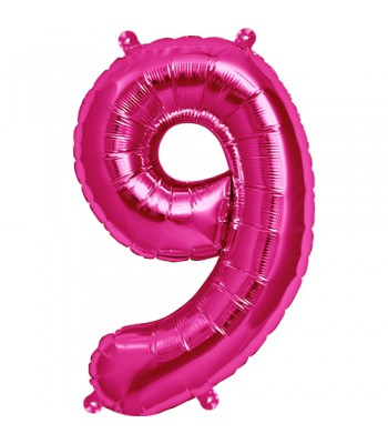 Foil Balloons - Numbers - 9 - Pink
