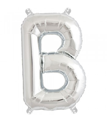Foil Balloons - Letters - B - Silver