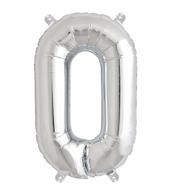 Foil Balloons - Letters - O - Silver